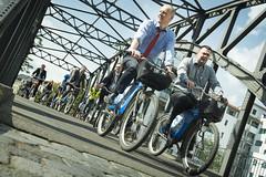 Michael Kloth enjoys the bike tour