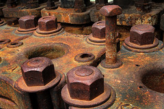 Bolted (arbyreed) Tags: old abandoned metal rust decay machine rusty forgotten bolt nut nutsandbolts arbyreed oldminemachine