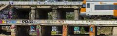This world is full of creativity (bernat.rv) Tags: bridge urban train tren puente moving fast movimiento graffity via rpido moviendose