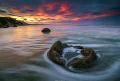 Koekohe Beach (shaunyoung365) Tags: ocean new sunset sea sky seascape beach clouds zeiss waves sony zealand a7rii