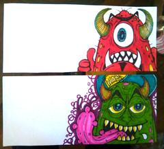 cholowiz sticker collab (marcomacedo3) Tags: street art skulls graffiti sketch paste stickers can spray labels characters clowns trade cartoons wizards slaps collabs mtsk cholowiz nazer26