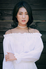 Style (Bomm Green) Tags: portrait white beauty fashion female eyes dress style