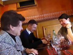 Good conversation (egf _fem) Tags: lunch restaurant fem esther jeremie europeancommission bistra egf lamamma