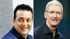 Sanjay Dutt enjoys cricket match with Apple CEO Tim Cook (Punjab News) Tags: news punjab