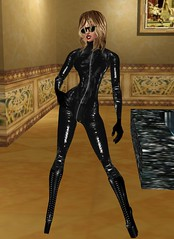 40 (SoakinJo) Tags: leather fetish heels catsuit wetlook wetclothes imvu extremeheels
