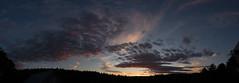 Sunset Finale. 6.10.16 (koperajoe) Tags: pink blue sunset panorama clouds twilight dusk pano newengland westernmassachusetts gloaming