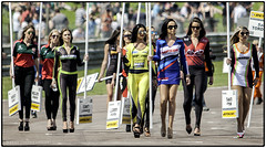 Here come the girls (jdl1963) Tags: girl grid model glamour pit lane btcc thruxton