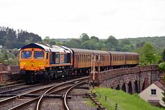 66763 Bewdley (British Rail 1980s and 1990s) Tags: train diesel rail railway loco 66 locomotive preserved preservation svr livery severnvalleyrailway class66 dieselgala gbrf 66763 locohauled europorte