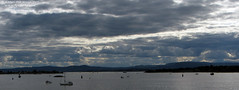 Sky above Oslofjord (Sirielle) Tags: sky clouds darksky dramaticsky waterscape waterfront fiord fjord oslofjord norge noreg norway norwegia oslo akerbrygge