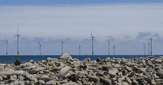 Wind Farm (Preston Ashton) Tags: ocean uk blue sea england sky sun water sunshine rocks wind farm rocky sunny windfarm prestonashton