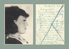 Liebe Gretel (Help w/Translation Needed) (Goran Patlejch) Tags: photo woman profile portrait 1941 1940s germany young girl
