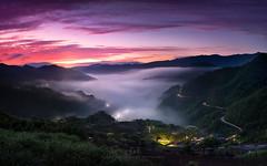 sunrise (agapicture) Tags: travel trees light sky sun mountain clouds sunrise landscape tea taiwan