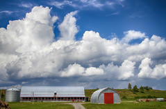Monsters over the Farm (Danny VB) Tags: summer canada clouds barn canon quebec farm august monsters gaspesie