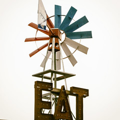 EAT Sign (Austin Hudson) Tags: sign vintage route66 wind outdoor eat