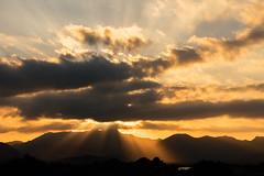 Sunset mood (Martin Zurek) Tags: light sunset orange color zeiss ray rays es spanien ze lightrays otus 1485 lightray illesbalears alcdia 5ds otus1485 canon5dsr 5dsr