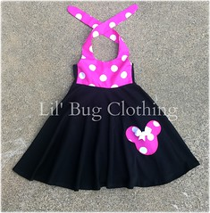 Minnie Mouse (Lil' Bug Clothing) Tags: pink circle mouse dress top knit and minnie smocked capris