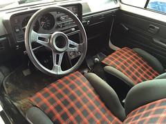Mk1 VW Golf GTI Interior (Marc Sayce) Tags: goodwood festival speed 2016 mk1 vw golf gti mk 1 white volkswagen mk3 3 1976 1977 1978 1979 1980 1981 1982 interior seats dash dashboard speedo steering wheel