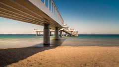 Seebrcke Timmendorfer Strand (Bernd_Kowalski) Tags: sea sky beach architecture strand landscape flickr norden baltic architektur landschaft ostsee hdr schleswigholstein kste seebrcke timmendorferstrand wolkenlos sonyalpha