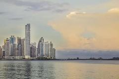 Panama City (yafit770) Tags: ocean sunset sea skyline clouds canon t5 panama panamacity cintacostera