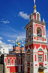 Varvarka street, Moscow (Tiigra) Tags: moskva moscow russia ru 2016 architecture bell church city color dome spire tower window arch
