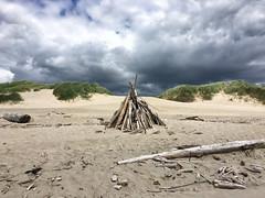 Driftwood Fort (LBofcourse) Tags: manzanitaoregon