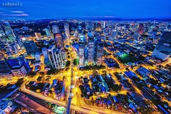 Cityscape (siva_wwc) Tags: sunset tower canon lights cityscape slowshutter kualalumpur