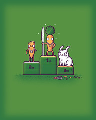 Carrot competition (randyotter) Tags: silly colour cute art shirt kids illustration design cool funny lol tshirt colourful threadless tee randyotter