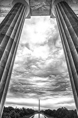 Let Freedom Ring (Lynleigh Cooper) Tags: new travel summer sky blackandwhite usa art history monochrome clouds america freedom washingtondc washington nationalpark nikon unitedstates free historic lincolnmemorial tall fullframe mighty abrahamlincoln fineartphotography traveler blackandwhitephotography skyporn nikond600