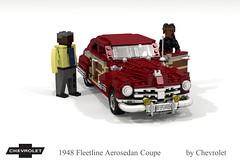 Chevrolet 1948 Fleetline Aerosedan Coupe (lego911) Tags: chevrolet chevy chev 1948 1940s classic fleetline aerosedan coupe auto car moc model miniland lego lego911 ldd render cad povray usa america woody chrome lugnuts challenge 103 thefabulousforties fabulous forties