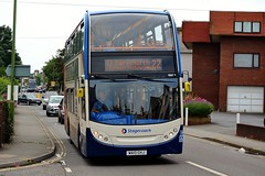 Stagecoach South West Dennis Enviro 400 (15667) (MancPhotographer2014) Tags: street uk england southwest west bus english college buses station riviera south transport company devon journey 400 transportation vehicle warren dennis torquay busstation stagecoach paignton enviro the teignmouth dawlish stmarychurch roselands
