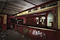 Too late for a beer? (Albyphoto) Tags: italy abandoned bar pub italia decay alcool urbana birra urbex abbandono birreria bancone decadimento esplorazione