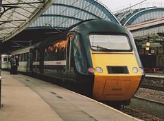 "National Express Branded GNER Blue Class 43, 43314 ""East Riding of Yorkshire"" (37190 ""Dalzell"") Tags: york blue whitestripe nationalexpress gner hst nx highspeedtrain eastridingofyorkshire class43 intercity125 greatnortheasternrailway 43114 43314 brelcrewe"
