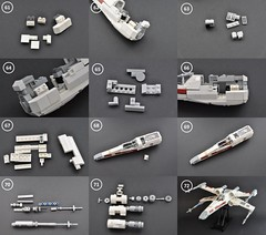 T-65 X wing Instructions (6) (Inthert) Tags: star fighter ship lego luke r2d2 xwing instructions wars skywalker moc t65 sfoils