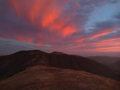 Summer Solstice Evening - 3 (fksr) Tags: evening summersolstice marinheadlands marincounty california landscape hills sunset redclouds sky