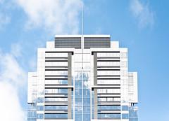 Blue Condo's Pioneer Square 2 of 2 (Orbmiser) Tags: skyscraper condos building cityscape architectural architecture clouds reflections nikon d90 55200vr portland oregon