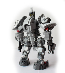 Reinhardt back (hachiroku24) Tags: blanco hammer toy lego character suit creation armor fondo reinhardt overwatch