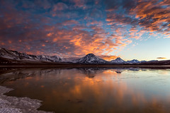 Sunrise over Laguna Lejia (Piotr_PopUp) Tags: chile morning blue sun lake reflection latinamerica southamerica sunrise wow volcano amanecer andes laguna pili aguascalientes altiplano puna volcan lascar losflamencos lagunalejia