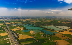 Another view.... (Alessandro Iaquinta) Tags: view canon landscape nature paesaggio dslr reflex sky blue colours top 5dmarkiii raw photoshop italy italia wide pic picoftheday emilia aereo pianura land cpl hoya lens summer colors