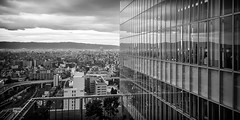 Mirror (GavinZ) Tags: asia japan osaka reflections blackandwhite bw monochrome city