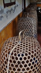 curious objects (SM Tham) Tags: bali building sport indonesia island asia baskets verandah weaving rattan cages fightingcocks karangasem amlapura puriagungkarangasem