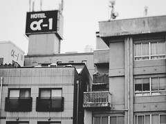 Buildings in Takayama, Gifu (Jon-F, themachine) Tags: blackandwhite bw building monochrome japan architecture buildings asian asia structures olympus monochromatic  nippon japo grayscale oriental orient fareast takayama  gifu bnw nihon  omd japn hidatakayama 2016    nocolor m43  mft  gifuken   mirrorless   micro43 microfourthirds  ft xapn jonfu  mirrorlesscamera snapseed   em5ii em5markii