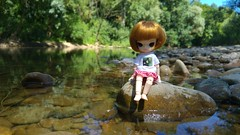 In the river (-nickless-) Tags: outdoors doll little dal muñeca rotchan minidal gozoki obitsu11cm
