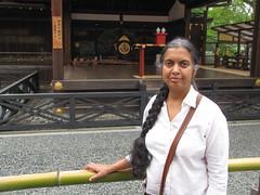 Kyoto-16.006 (davidmagier) Tags: japan kyoto religion ponytail shrines jap aruna musicalinstruments historicsite