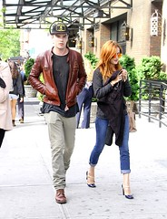 Nicholas Hoult & Riley Keough 5/7/13 (The Presley's & Lockwoods) Tags: city nyc blue usa brown newyork celebrity boyfriend leather fashion mystery sweater beige girlfriend couple boots manhattan navy khaki style shy redhead hidden jeans granddaughter jacket hate dating actress heels actor denim paparazzi spotted sailor date hiding candids lisamariepresley breakup sighting elvispresley shied purlple nicholashoult costars rileykeough costar jenniferlawrence madmaxfuryroad