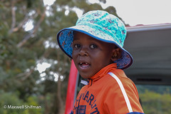 Boy on the Cape Town sightseeing bus