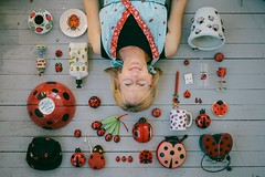 my mother & all of her ladybug treasures. (emmzies) Tags: favorite cup coffee pen mom happy day mother plate bowl things magnets mothers collection pots ladybug earrings bags debbie sponge compass mothersday treasures organized lotion cdcase winduptoy scrubber saltandpeppershakers measuringspoons neatly thingsorganizedneatly