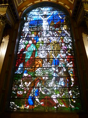 St Anne's Church, Limehouse: stained glass window (John Steedman) Tags: uk greatbritain england london church window unitedkingdom stainedglass stainedglasswindow stannes limehouse grossbritannien     grandebretagne stanneschurch