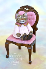 Lovey the tabby kitten by Max Bailey (ruffingsartdolls) Tags: original sculpture cats cat miniatures miniature handmade originalart oneofakind ooak painted handpainted collectible collectables collectable sculpted handmadedoll catart handsculpted catdoll paperclay maxbailey handscupted catartdoll ruffings