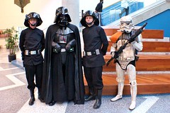 Darth Vader & Entourage 2 (RyC - Behind The Lens) Tags: wow starwars cosplay sanjose superman wonderwoman r2d2 stormtrooper comicbooks supergirl darthvader thor catwoman poisonivy bigwow comicfest