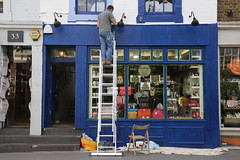 Sprucing Up (SReed99342) Tags: uk england london shop store paint painter nottinghill pembridge